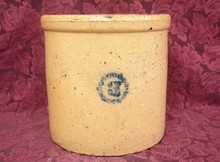 19TH CENTURY SALT GLAZED CROCK