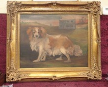 EARLY PAINTING OF DOG