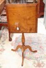 EARLY 19TH CENTURY BIRDS EYE MAPLE  PHILADELPHIA TILT TOP CANDLE STAND