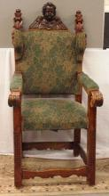 Dated 1651 Rare Wing Back Arm Chair