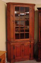 Late 18th/Early 19th Century Two Piece Corner Cupboard