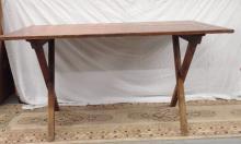 Early 1800's Pine Sawbuck Table