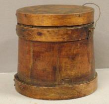 Primitive Small Wooden Cheese Bucket
