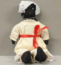 Handmade Black Memorabilia Cloth Doll