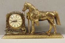 1950's Lanshire Horse Mantel Clock