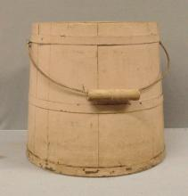Early wooden painted Basket