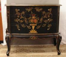 Nicely Hand Painted three Drawer Dresser