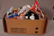 Box lot of over 50 Beanie Babies