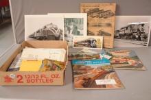Box of Early Train Memorabilia