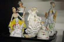 Seven Nice Porcelain Figurines - various sizes