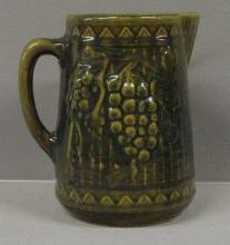 19th Century Pennsylvania Grape & Leaf Pattern Milk Pitcher