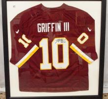 Robert Griffin III Framed Autographed Redskin Jersey