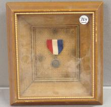 Daughters of the American Revolution Framed Medal