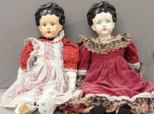 Two China Dolls - nicely Dressed