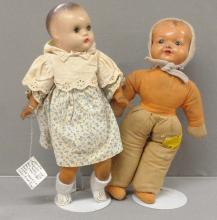 Two Early Composition Head Dolls