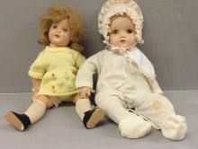 Two Early Moving Eyes Dolls