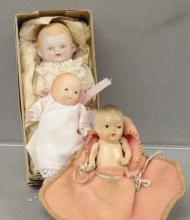 Three Small Cupie Dolls