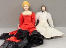 Two Porcelain Head Dolls