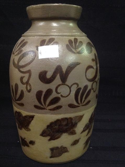 Rare Botetourt/Alleghany County Fulton Pottery Stoneware Crock