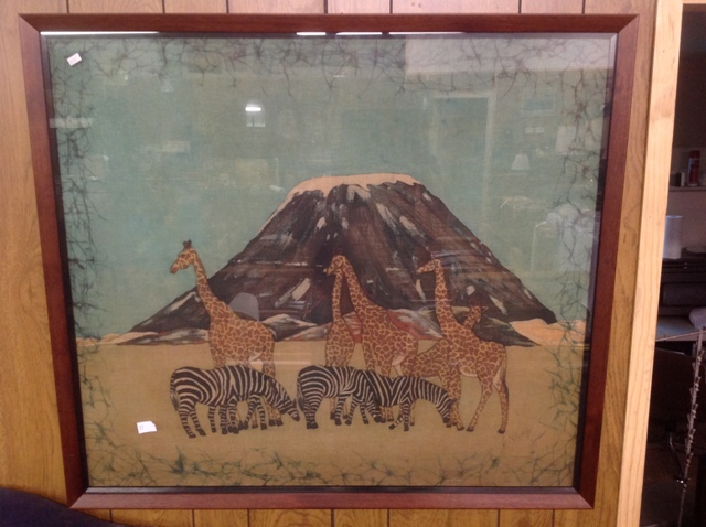 Original African stitched picture of African scene