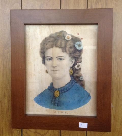 Framed Print published by N Currier entitled Jane