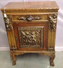 French mid-1800's One drawer Cupboard