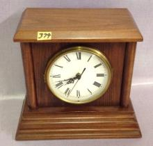 Battery Operated Clock in Walnut Case