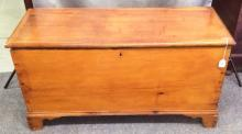 Early American Dovetailed blanket Box in original patina finish