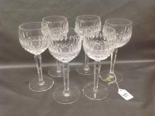Seven Red Wine Waterford Crystal Glasses in Colleen pattern