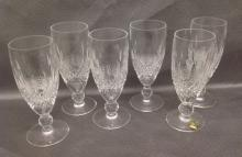 Eight Champagne Waterford Crystal Fluted Glasses in Colleen pattern