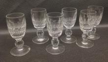 Ten Waterford Crystal Liqueur Glasses in Colleen pattern