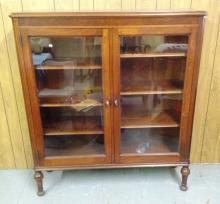 Walnut two Door bookcase