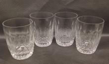 Four Water Goblets - Waterford Crystal  in Colleen pattern