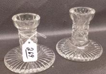 Pair of Waterford Crystal Candlesticks in Powers pattern