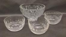 Four Waterford Crystal Bowls - one is wedding 8