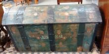 Dated 1842 Pennsylvania Dutch Dome Top Blanket Chest