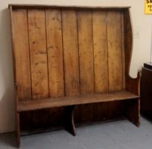 1800's Dutch/German Primitive Shadow Bench