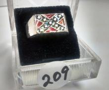 Confederate Flag Men's Ring