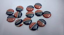 Thirteen Original Nixon and Lodge political buttons