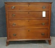 18th Century American 4 drawer Chippendale Chest