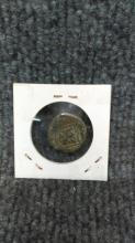 1680 Pirate COB Coin 8 maravedis Carlos III Spanish, Madrid Colonial treasure. 20 mm 6.17 grams. shipping and handling for this item is $14.95
