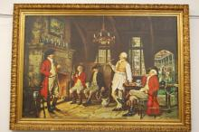 A large antique oil on canvas painting signed EMCURRTTO 155cm X 110cm