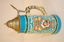 A pewter West German stein