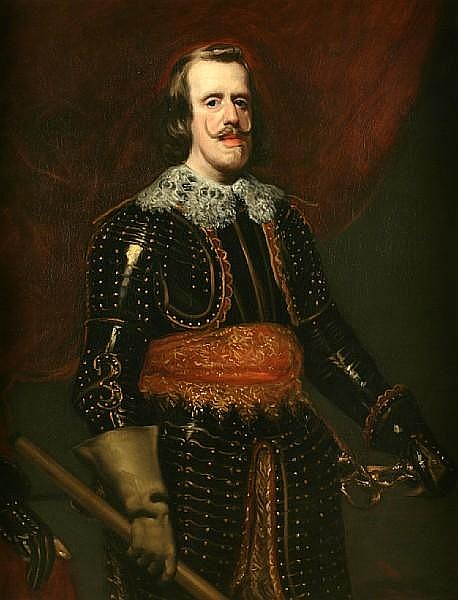 Circle of Diego Rodríguez de Silva y Velásquez (Spanish, 1599-1660) Portrait of Philip II of Spain Provenance Galerie Charles Sedelmeyer, Paris 46 1/4 x 36in (117.4 x 91.4cm)