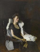 FRANK BRAMLEY, R.A. (BRITISH, 1857-1915)   Portrait of Ethel Grace Bolitho, neé Maclead