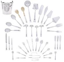 An Israeli  sterling silver  part flatware service for twelve Fine Furniture, Silver, Decorative Arts & Clocks