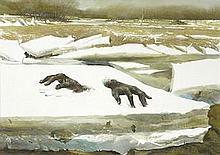 Andrew Wyeth (1917-2009)  Breakup
