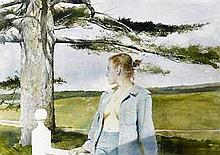Andrew Wyeth (1917-2009)  Only Child