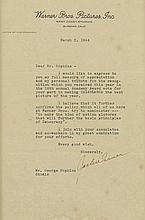 A Jack Warner letter to George James Hopkins regarding Casablanca