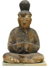 A wood figure of a Shinto deity- -Muromachi period and later